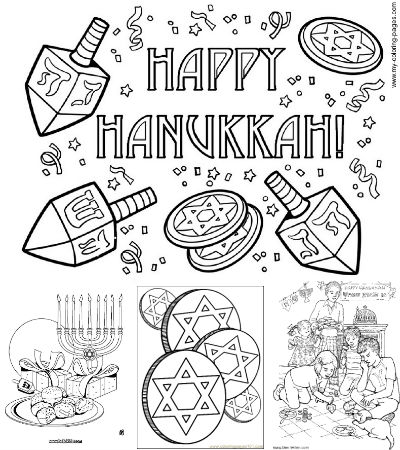 400x450 Best Free Printable Hanukkah Coloring Pages Detroitmommies Free