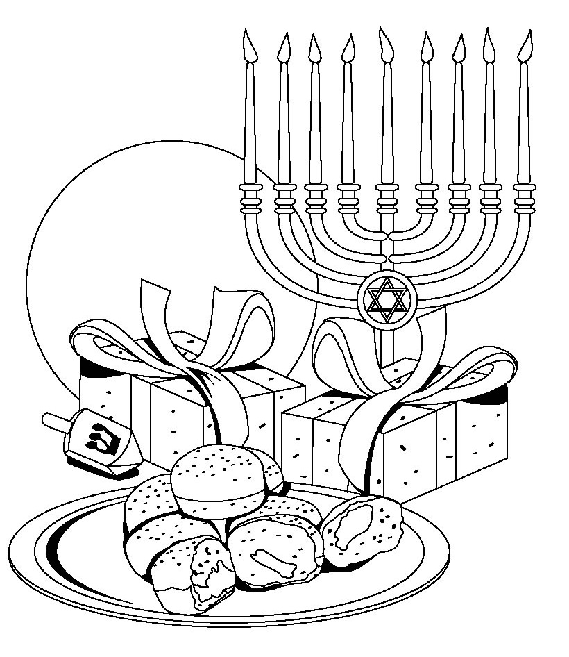 820x946 Download Free Hanukkah Color Pages Printable For Pre School
