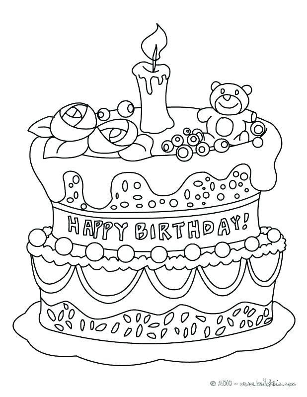 618x799 Free Birthday Coloring Pages With Birthday Cake Coloring Pictures