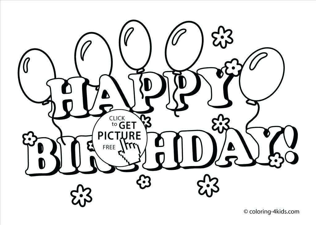 1024x730 Happy Birthday Coloring Page Great Free Happy Birthday Coloring
