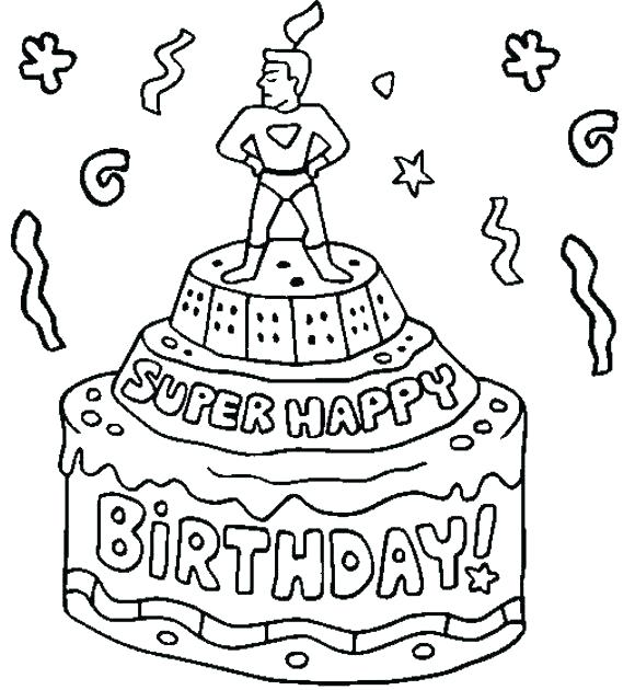 580x630 Happy Birthday Coloring Pages For Uncle Printable To Pretty Pict