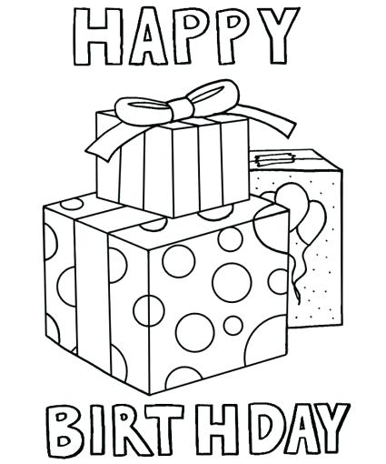425x510 Happy Birthday Coloring Pages Free Printable Happy Birthday Dad