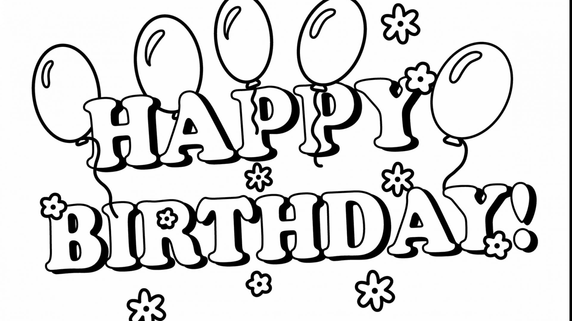 Free Happy Birthday Coloring Pages At Getdrawings Com Free For