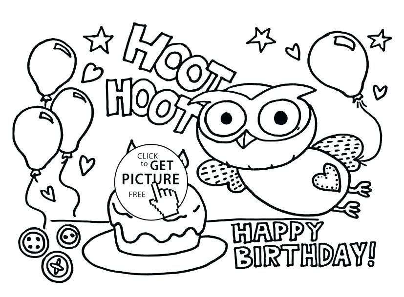 827x609 Happy Birthday Mom Coloring Pages Free Printable Happy Birthday