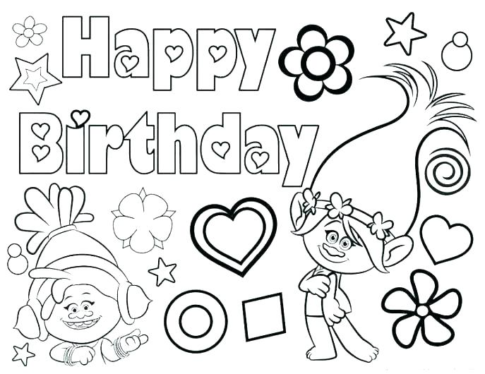 687x530 Free Printable Birthday Coloring Pages Coloring Pages Of Happy