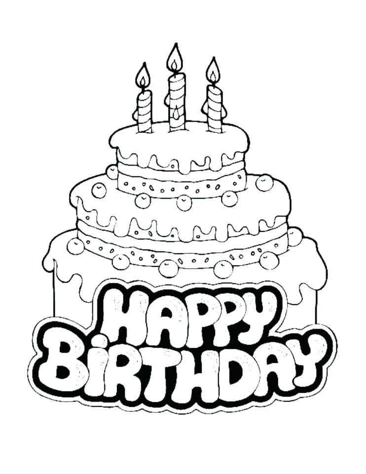 742x960 Birthday Color Page Birthday Coloring Pages Free Happy Birthday