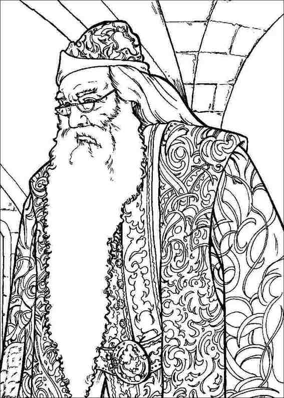 567x794 Best Dumbledore Harry Potter Coloring Pages Free Printable