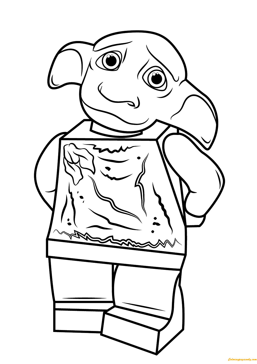 1060x1500 Lego Dobby Harry Potter Coloring Page Free Pages Online