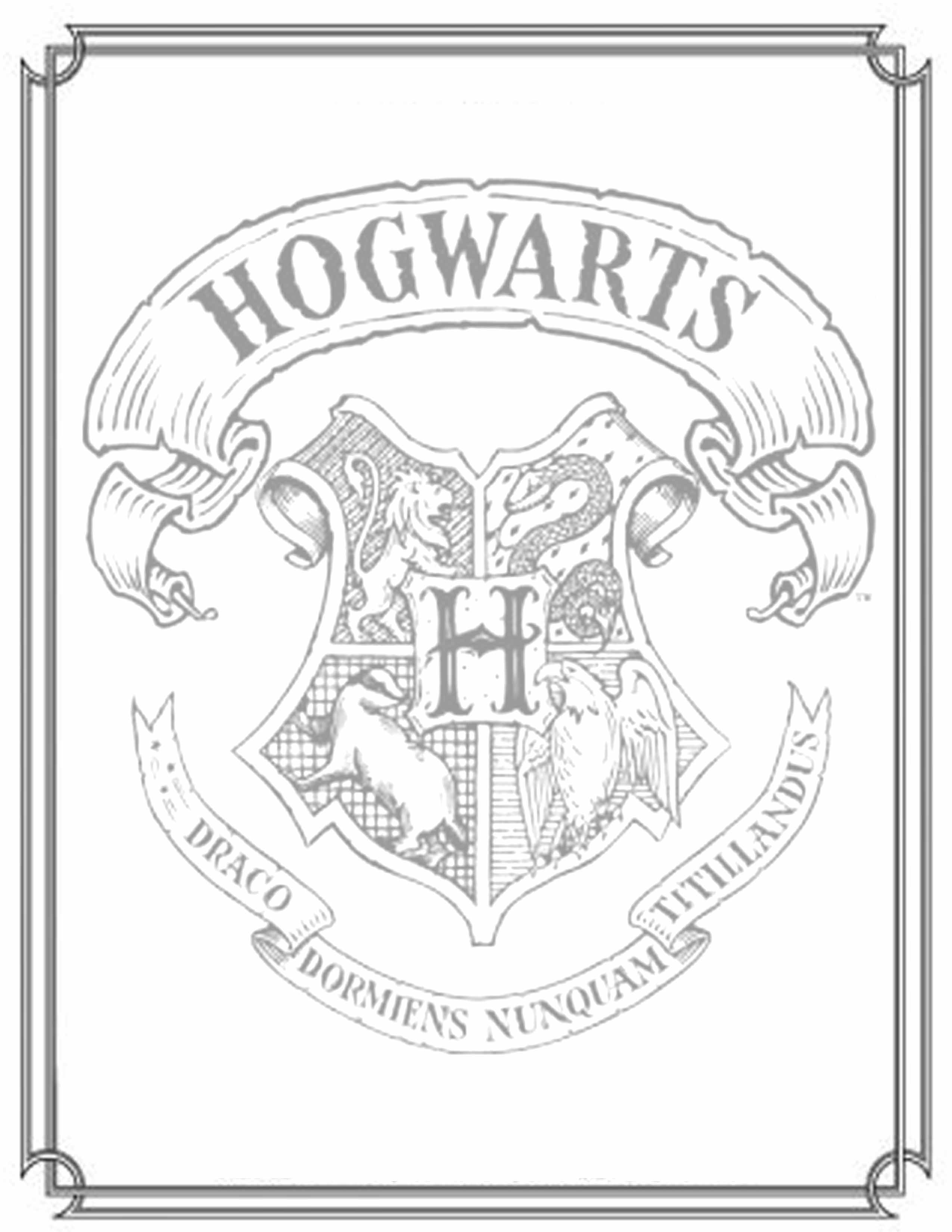 2550x3300 Best Of Harry Potter Coloring Pages Hogwarts Crest