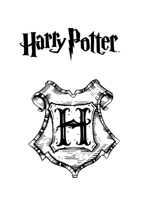 595x842 Free Harry Potter Coloring Pages Free Printable Harry Potter