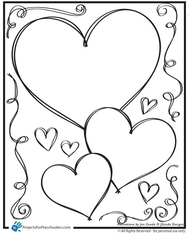Free Heart Coloring Pages At Getdrawingscom Free For Personal Use