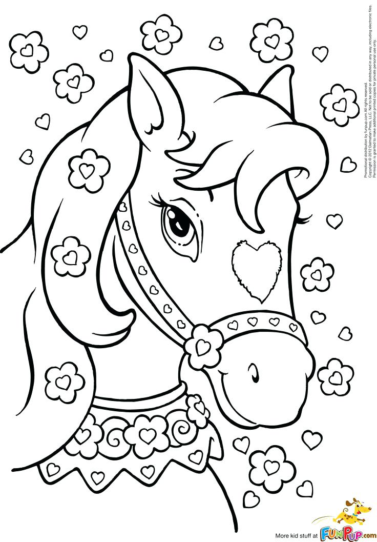 free horse coloring pages for adults 4