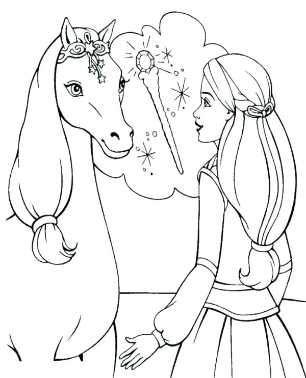600x742 Barbie Free Coloring Pages Free Horse Coloring Pages Online