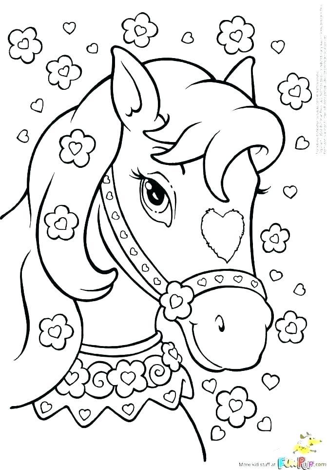 671x963 Horses Coloring Sheets