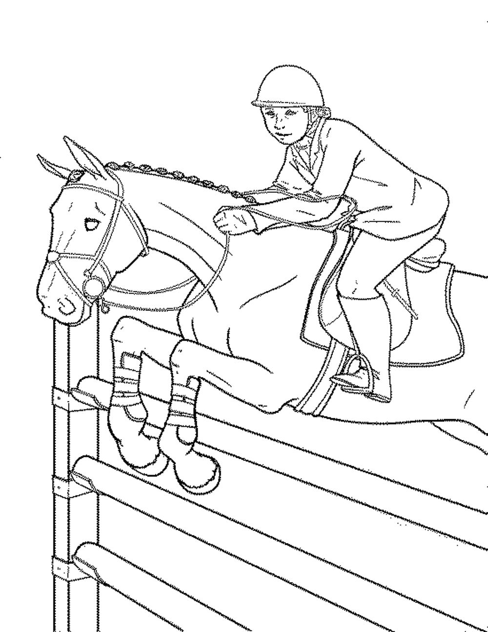 1000x1295 Race Horse Coloring Pages