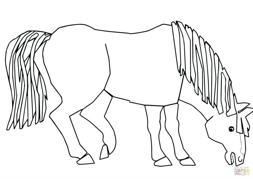 1024x724 Coloring Pages Free Horse Coloring Pages Blue What Do You See