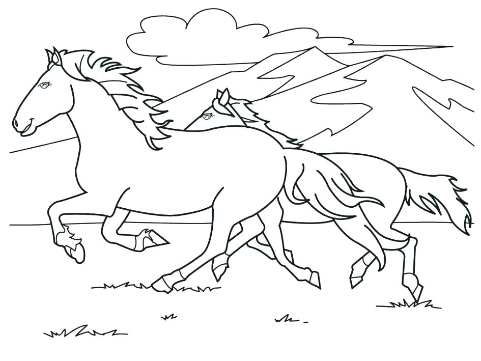 945x709 Dala Horse Coloring Page Horse Coloring Pages Page Of Color Free