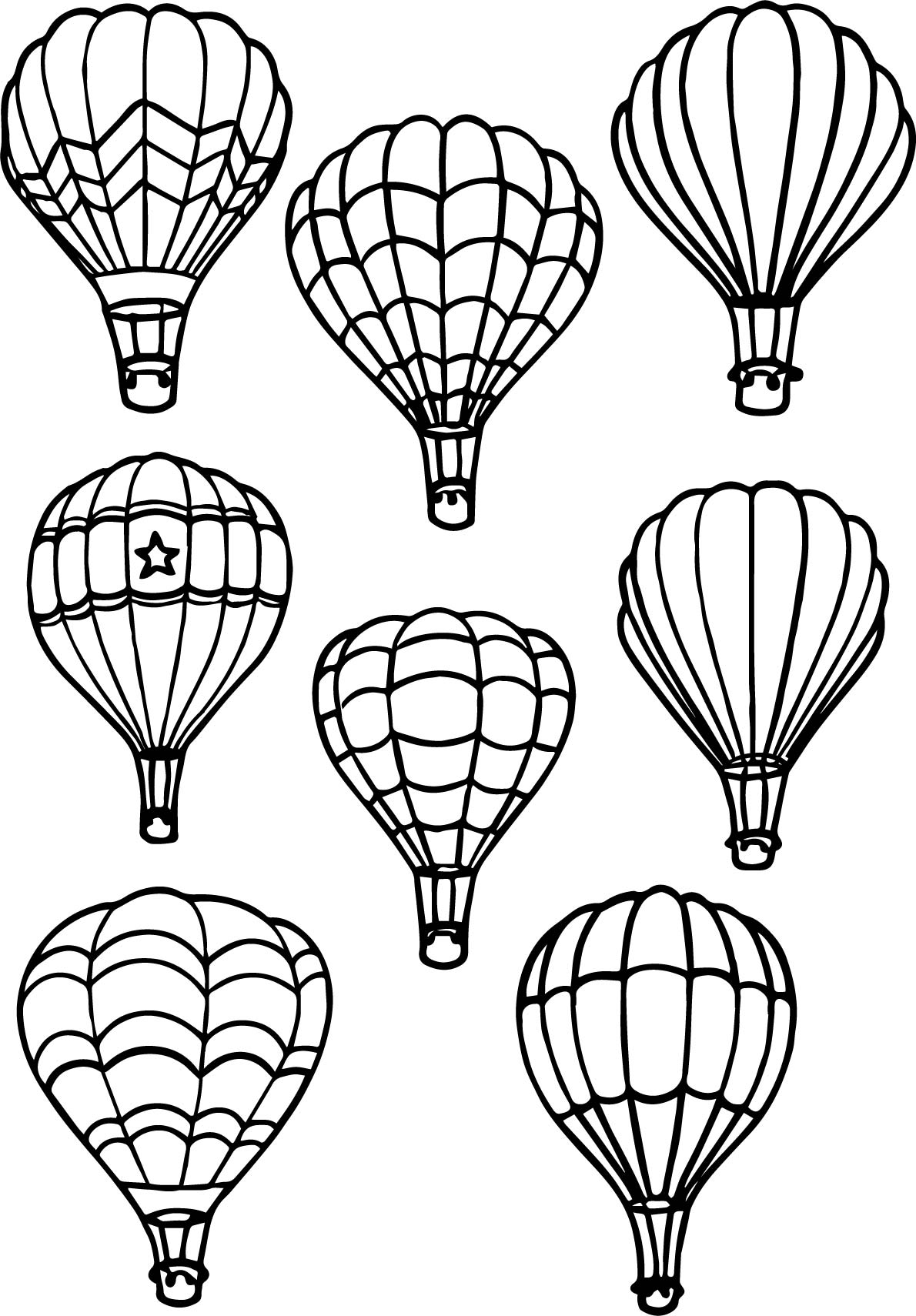 Free Hot Air Balloon Coloring Pages
