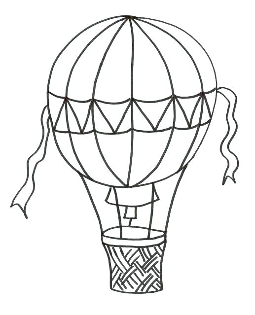 517x639 Hot Air Balloon Coloring Page Hot Air Balloon Colouring With Free