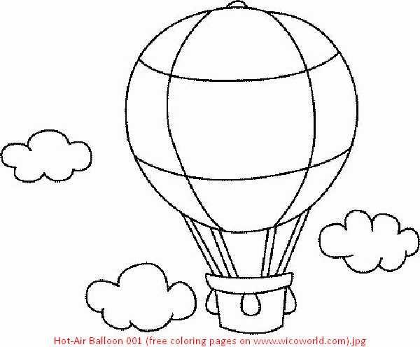 600x496 Hot Air Balloon Coloring Sheet Free Printable Hot Air Balloon