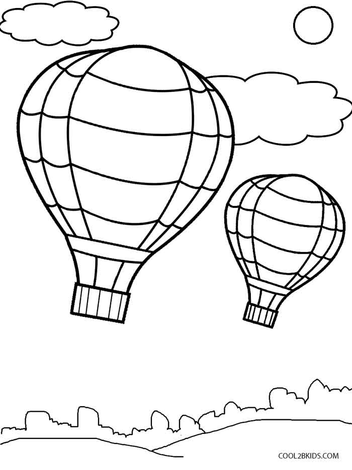 700x936 Kids In Hot Air Balloon Coloring Page Download Free Pages