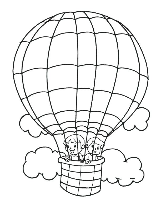 612x792 Kids In Hot Air Balloon Coloring Pages Kids In Hot Air Balloon