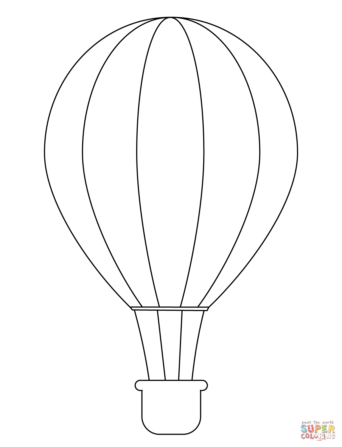 1148x1500 Simple Hot Air Balloon Coloring Page Free Printable Coloring