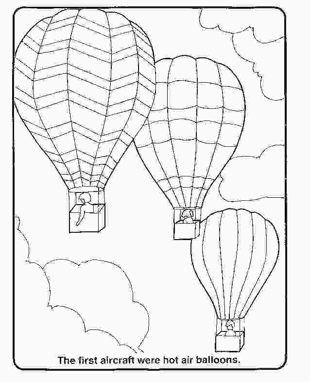 638x786 Balloon Coloring Pages Free