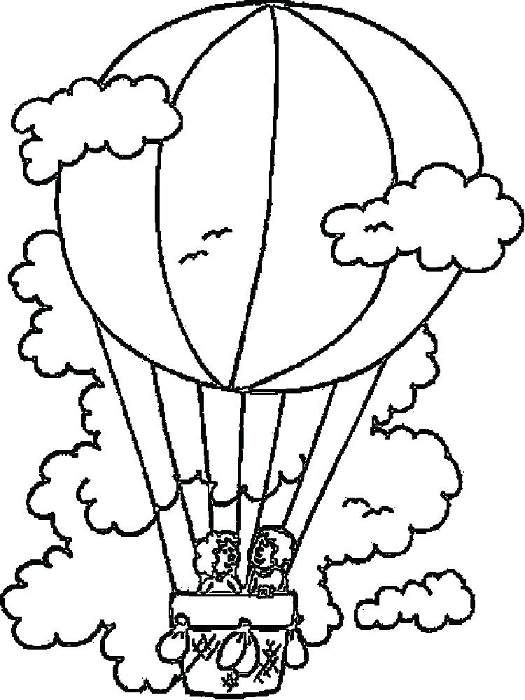 750x1000 Birthday Balloons Coloring Pages Balloon Coloring Pages Hot Air
