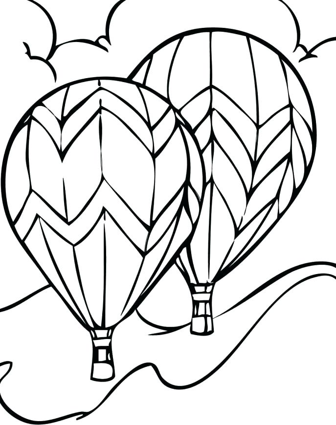 687x870 Coloring Pages Of Balloons Coloring Pages Balloons On The Free Hot
