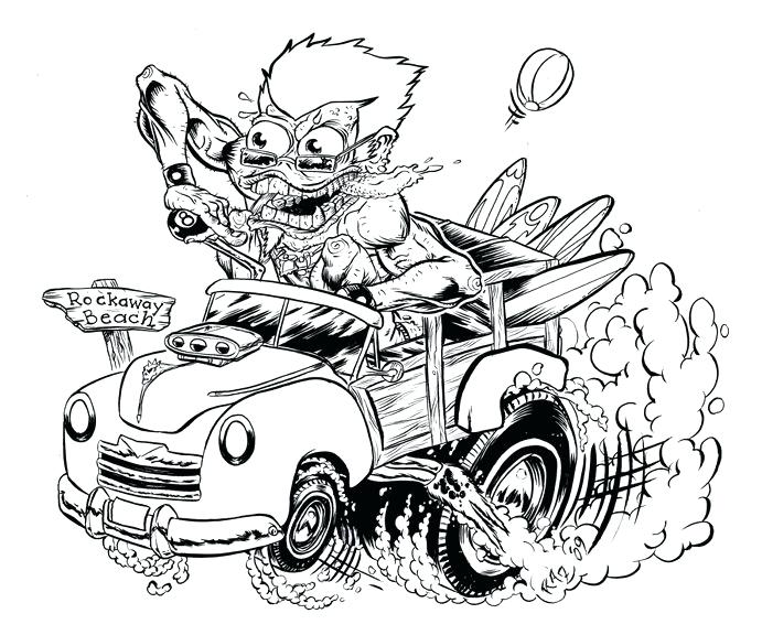 Free Hot Rod Coloring Pages At Getdrawings Free Download