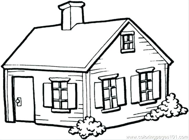 650x483 House Coloring Pages Printable Haunted House Coloring Pages Free