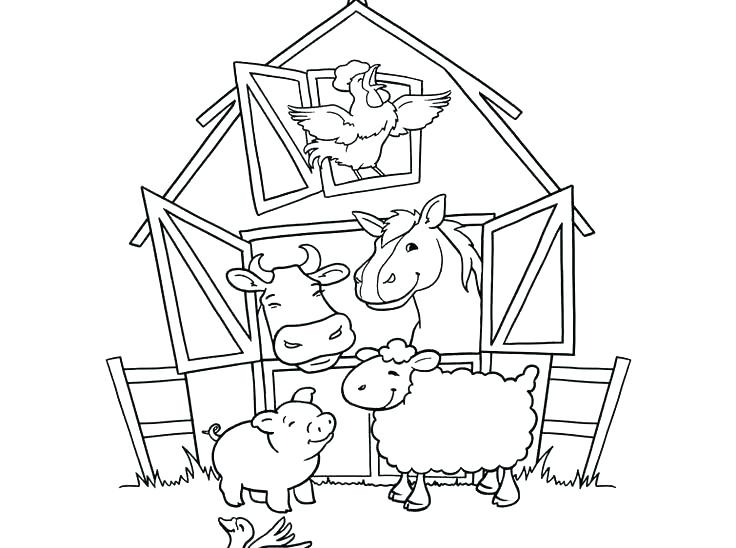 736x548 Coloring Pages Of Houses Farm House Coloring Pages Free Printable