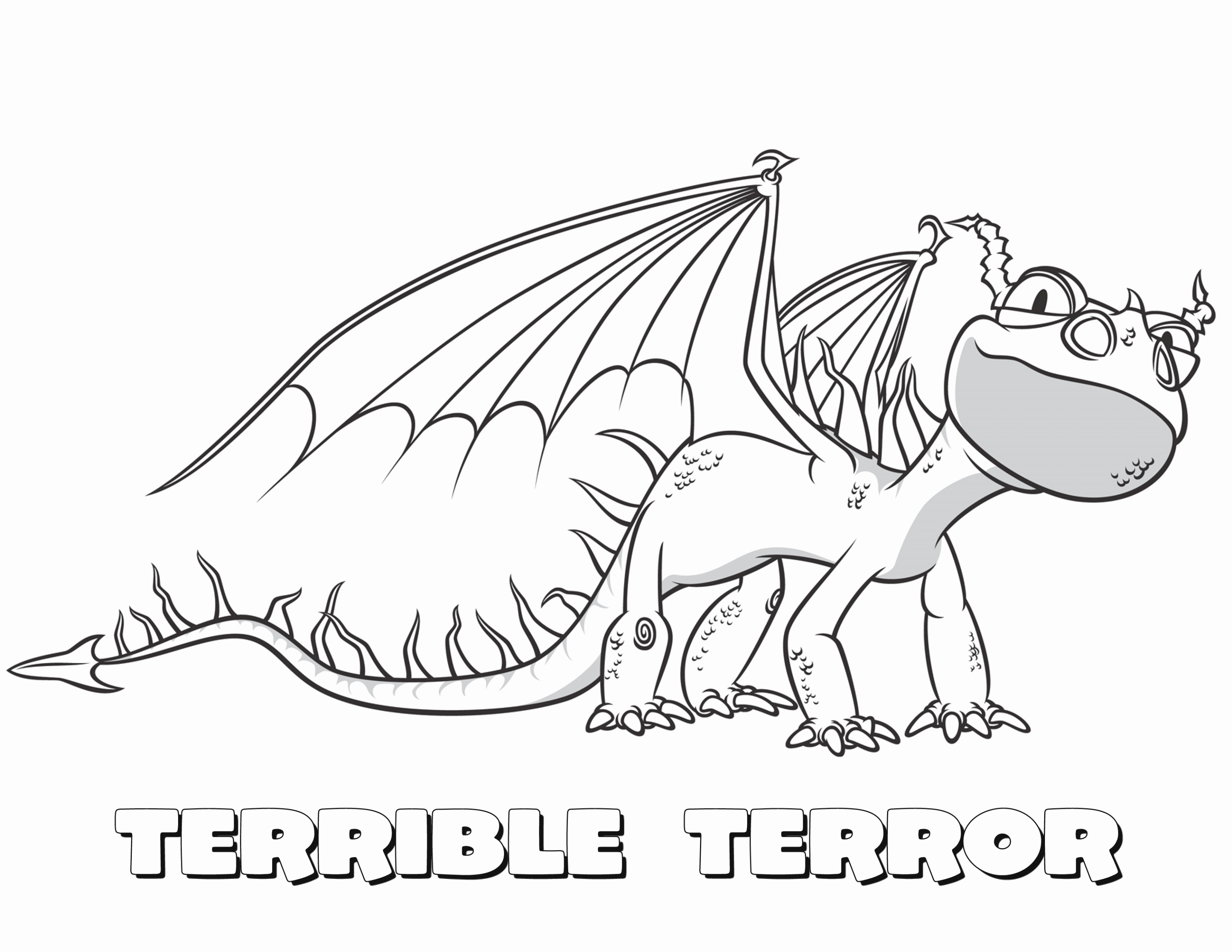 3168x2448 Cute Dragon Coloring Pages Coloring Page