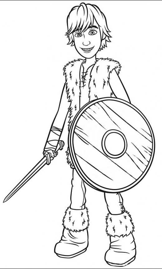 520x862 How To Train Your Dragon Coloring Pages