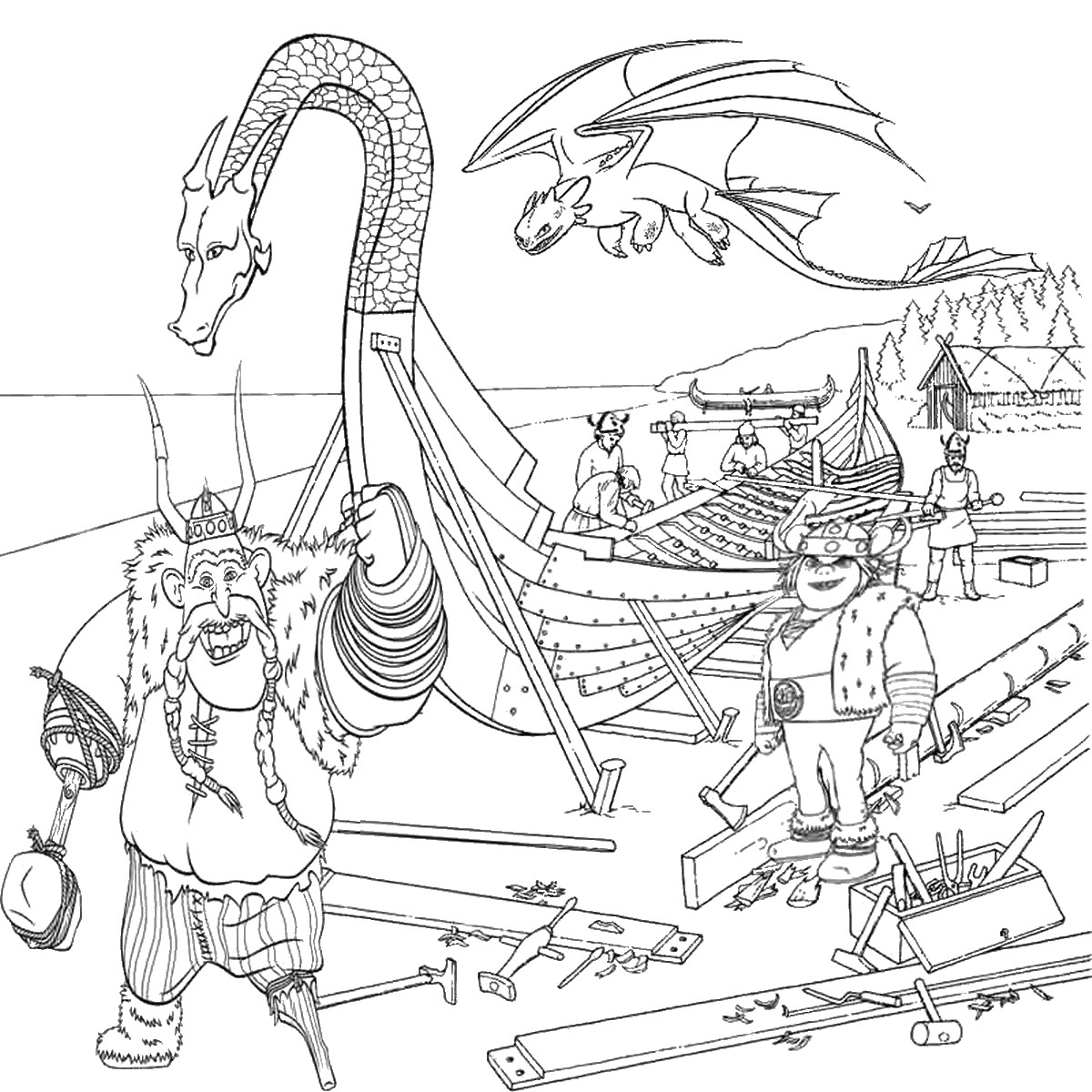 1200x1200 How To Train Your Dragon Coloring Pages