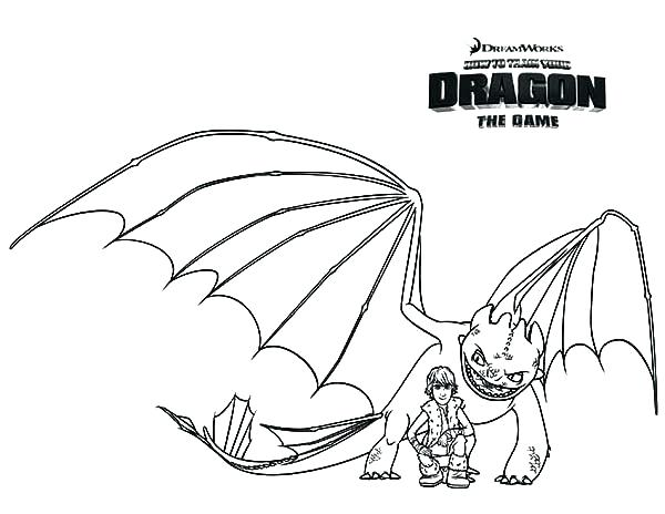 600x464 Night Fury Coloring Pages
