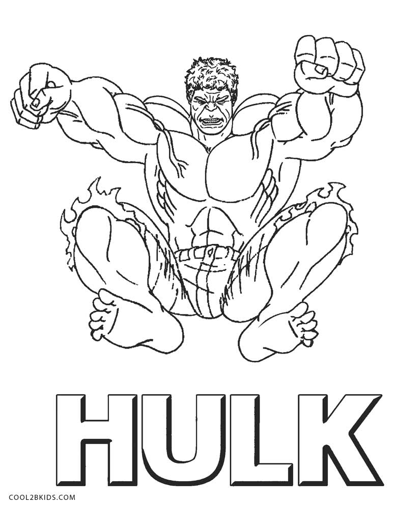 778x994 Free Printable Hulk Coloring Pages For Kids