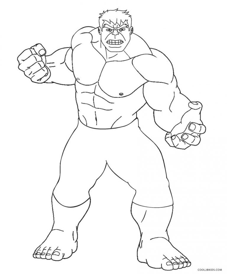 768x928 Hulk Coloring Pages Free Printable Hulk Coloring Pages For Kids