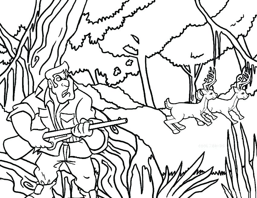 850x654 Free Deer Coloring Pages Gorgeous Hunting Coloring Pages Colouring