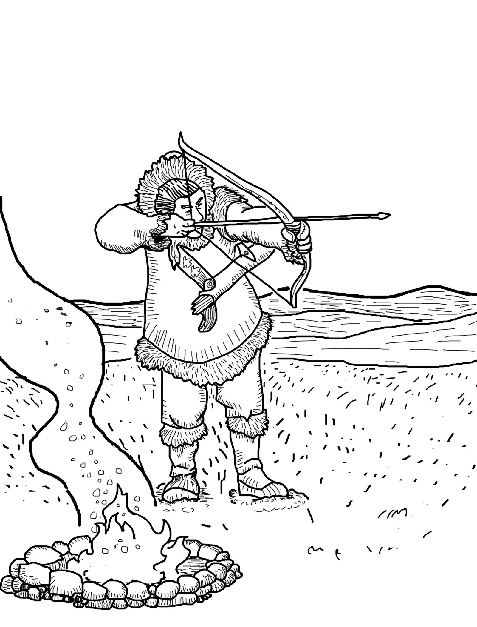 1600x2100 Free Hunting Coloring Pages With Printable Hunting Coloring Pages