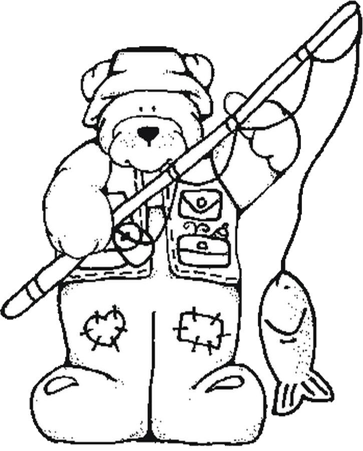 725x900 Hunting Coloring Page