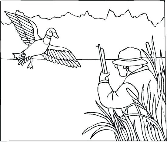 550x468 Duck Hunting Coloring Pages Hunting Coloring Pages Pin Gun