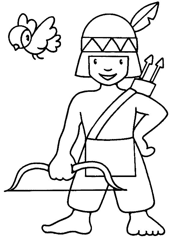 Free Indian Coloring Pages
