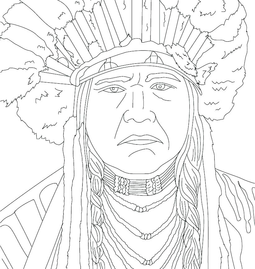 820x864 Free Native American Indian Coloring Pages