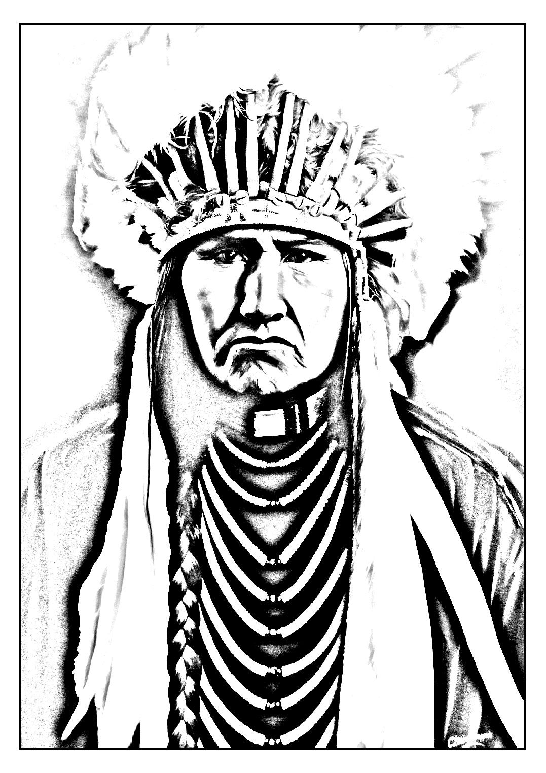 1077x1524 Free Coloring Page Coloring Adult Native American Indian Coloring