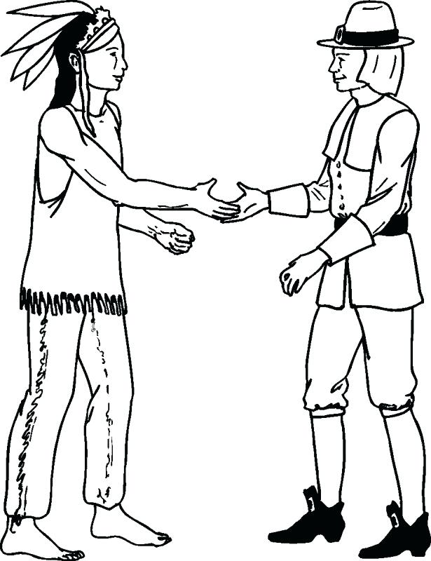 615x800 Indian Coloring Page Thanksgiving Coloring Pages Coloring Page