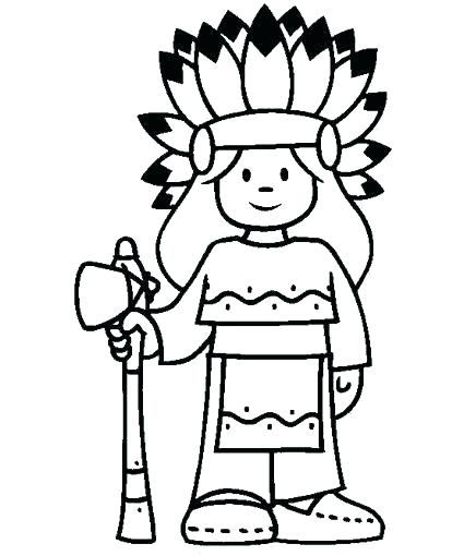 425x510 Indian Coloring Pages Free Printable Pilgrim And Coloring Page