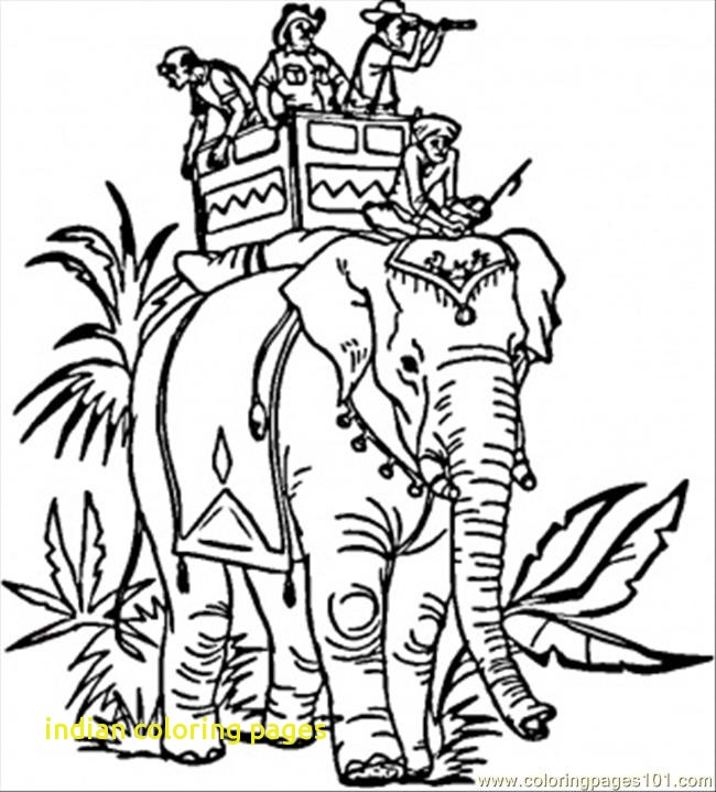 650x719 Indian Coloring Pages With Indian Elephant Coloring Page Free
