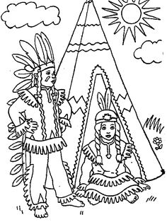 236x314 Indian And Pilgrim Coloring Pages Bible Printables The First